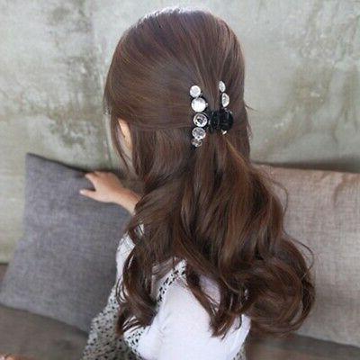 Crystal Hair Claws Clamp Rhinestone Clip