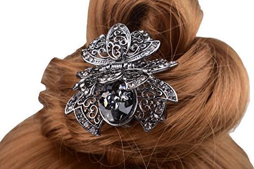 FINGER LOVE Crystal Alloy Hair Clip Pin