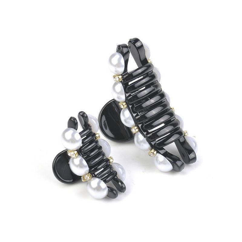 Crystal Rhinestone Clip Pearl Hairpins Crab Plastic Claws