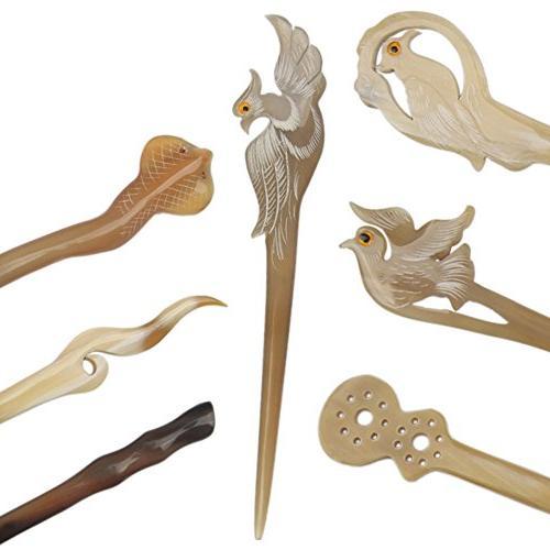 FINGER Decoration Horn Stick Hair Comb Hair Pin Hairpin