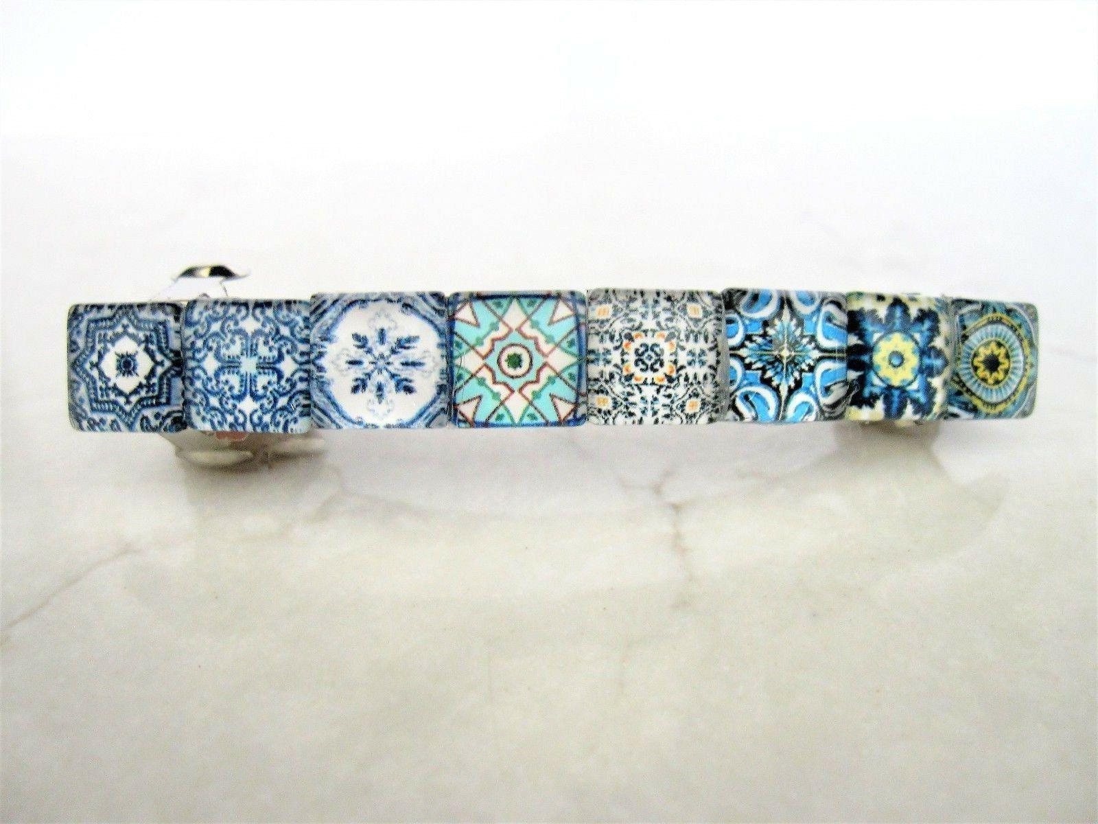 decorative tile hair clip barrette