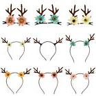 Deer Horn Ear Flower Hairband Hair Clips Christmas Costume P