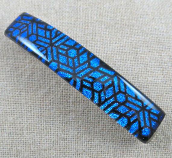 Dichroic 9cm Cobalt Blue Mosaic Clip