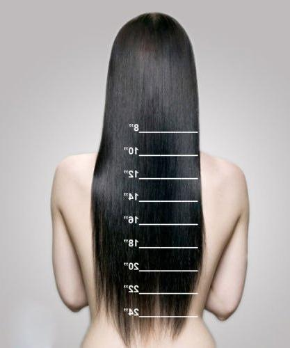 "Double 100% Human Extensions 10''-22'' Grade Full Head Long Straight 8pcs 18clips Beauty 12"" / inch 110g"