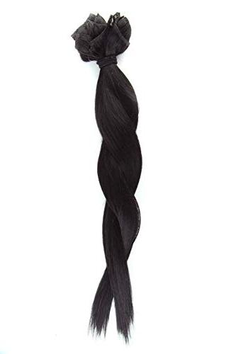 "Double Weft Remy Human Hair in Extensions #1B Natural Black 10''-22'' 7A Full Head Long Short 8pcs 18clips for Women Beauty 12"" 110g"