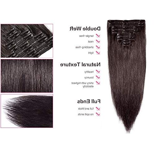 "Double Remy Human Extensions 10''-22'' 7A Quality Full Long Straight 8pcs 12"" / 12 110g"
