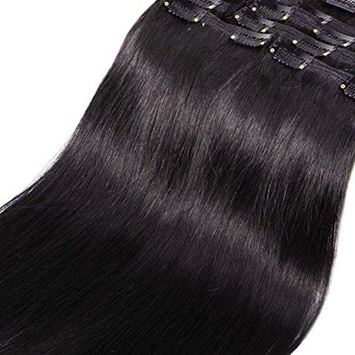 "Double Weft Human in Extensions 10''-22'' Full Long 18clips for Women 12"" / 110g"