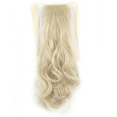 Drawstring Extension Hairpiece Long Wavy Pony