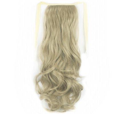 Drawstring Ponytail Hairpiece Clip Wavy