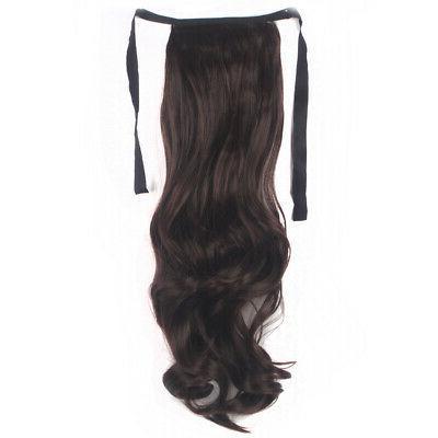 Drawstring Ponytail Hairpiece Long Wavy