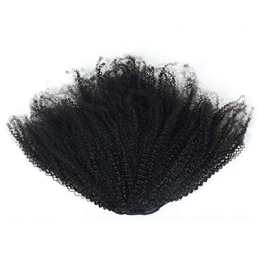 EIAKE Hair Afro Kinky Ponytails In Human Hair For Amaricans Coily Natural Ponytail HairPieces Drawstring Puff