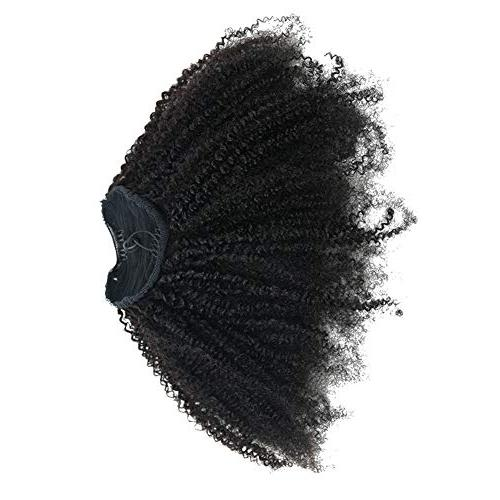 EIAKE Hair 4B4C Kinky Curly Ponytails In Human For African Amaricans Kinky Coily Natural Virgin Clipin Ponytail HairPieces Puff Ponytail