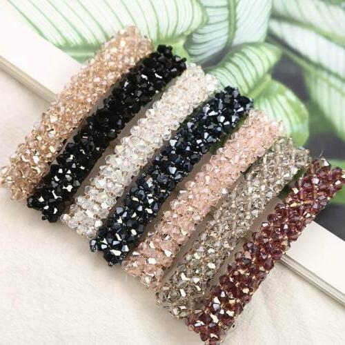Elegant Crystal Hairpins Barrettes Clips Accessories