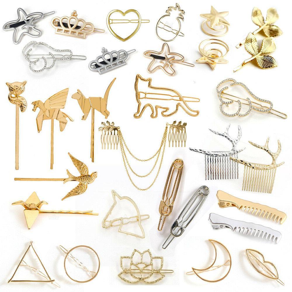 fashion animal leaf geometry hair clip hairpin