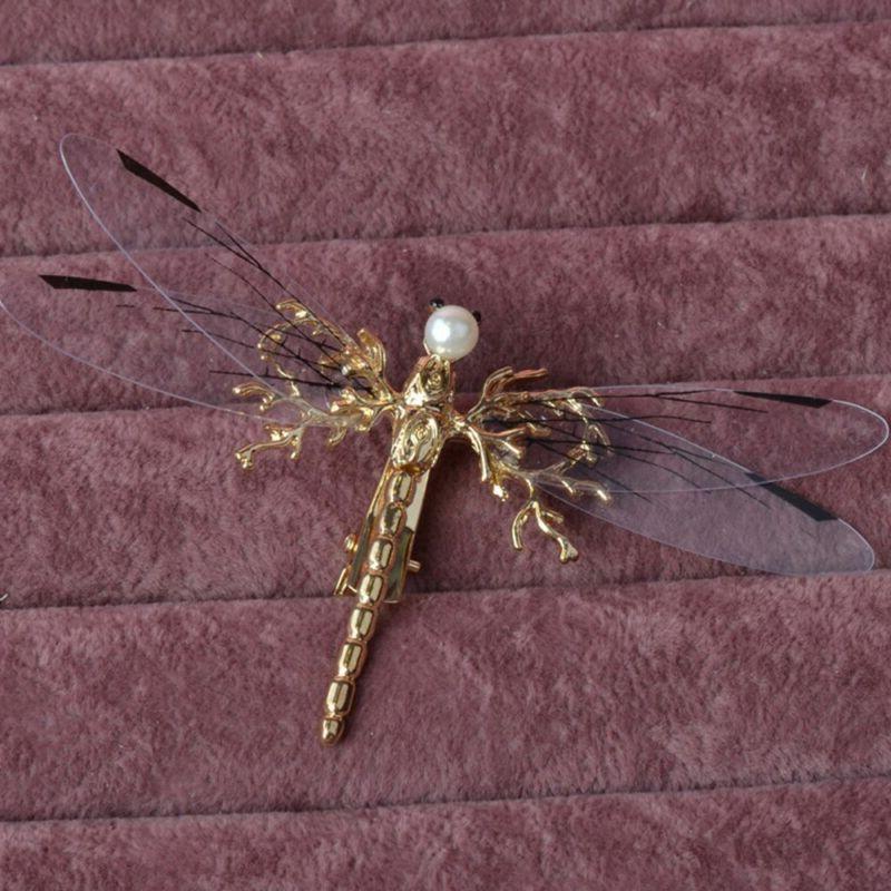 Fashion Dragonfly Hair Pearl Headdress Hairpins