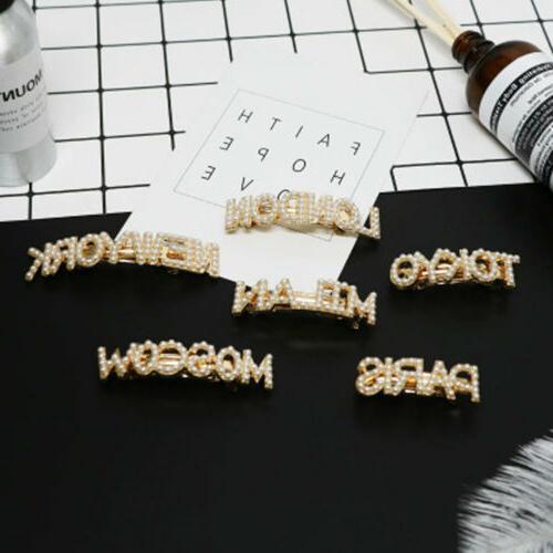 Fashion Letters Clip Bobby Barrette