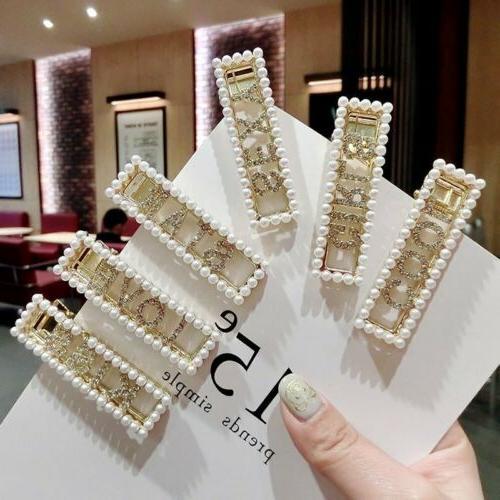 Fashion Pearl Metal Clip Bobby Pin Hairpin