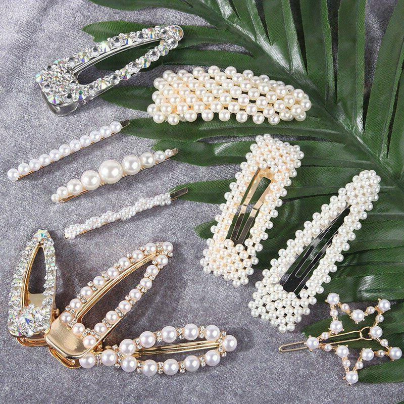 Fashion Pearl Metal Clip Hairband Pin Barrette