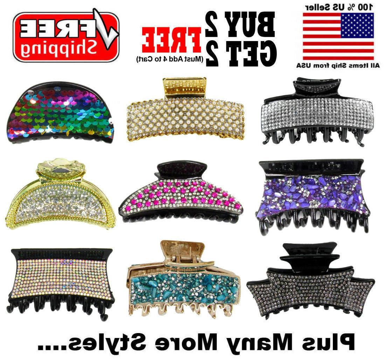 fashion trendy crystal rhinestone hair clip claw