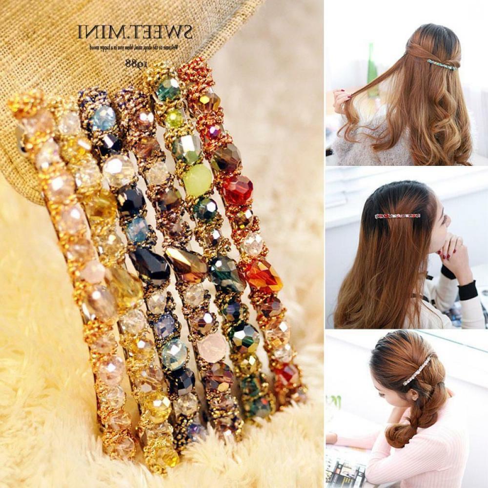 Fashion Women Hair Accessories Crystal Hairpin Hair Clip Bar