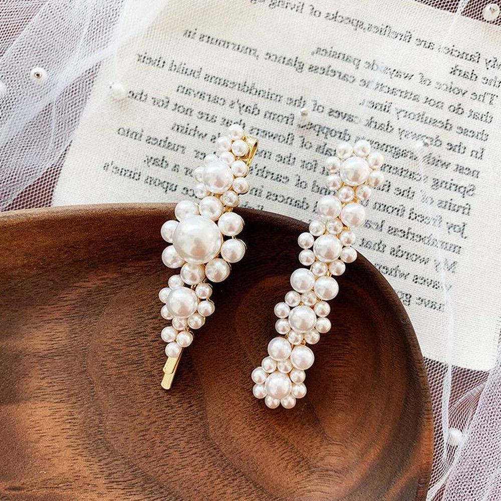 Fashion Women Pearl Barrette Clip Hairpin Accessories
