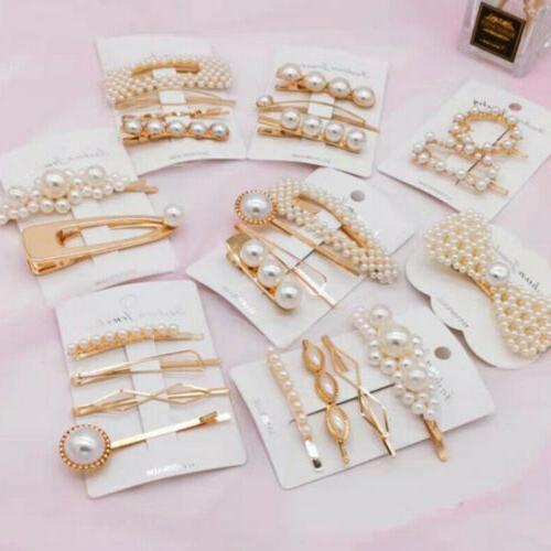 USA Pearl Hair Clip Pin Barrette Headdress