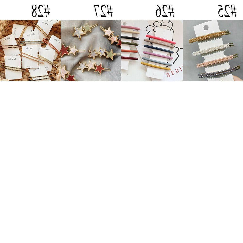 Womens Pearl Hair Clip Hairpin Pin Barrette Hair Accessories