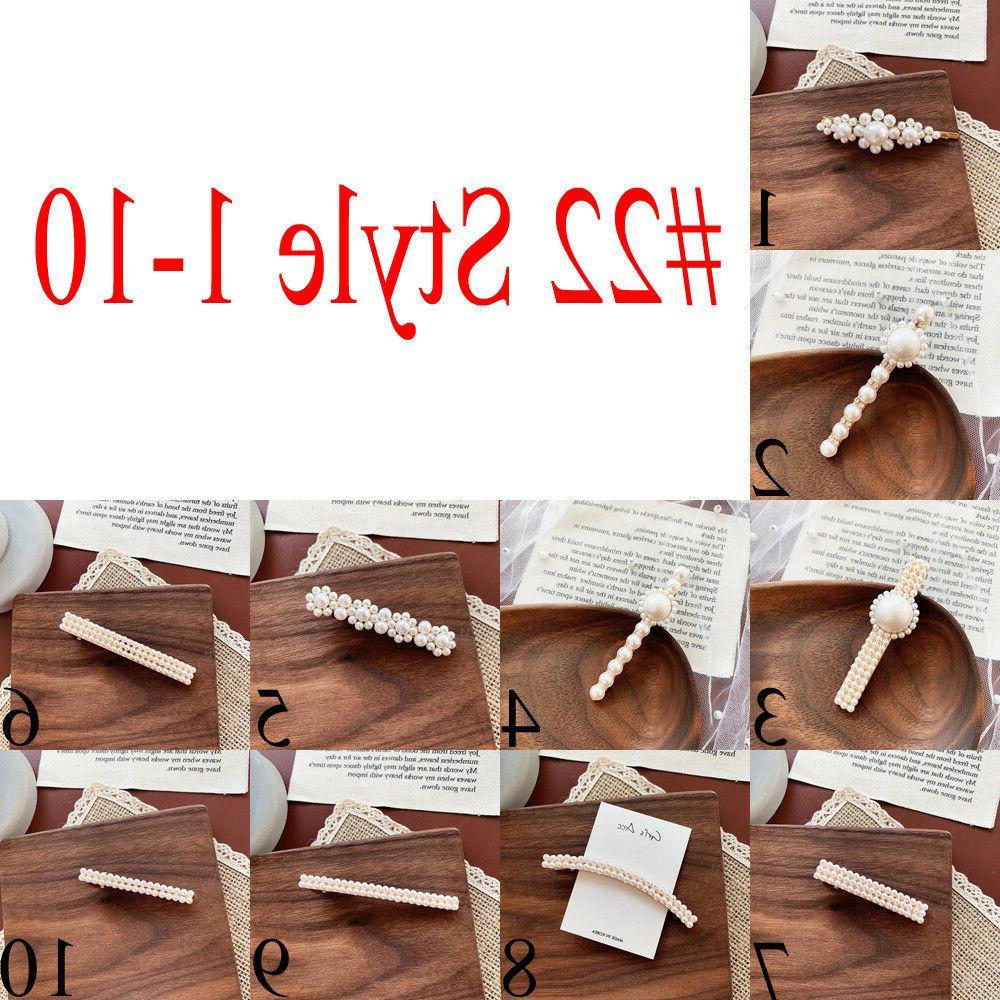 Womens Pearl Plush Hair Clip Pin Barrette