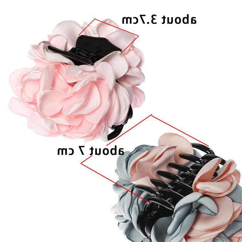 Fashion Women's Flower Hair Ponytail Hair