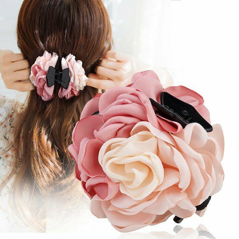 fashion women s flower barrette hair clips