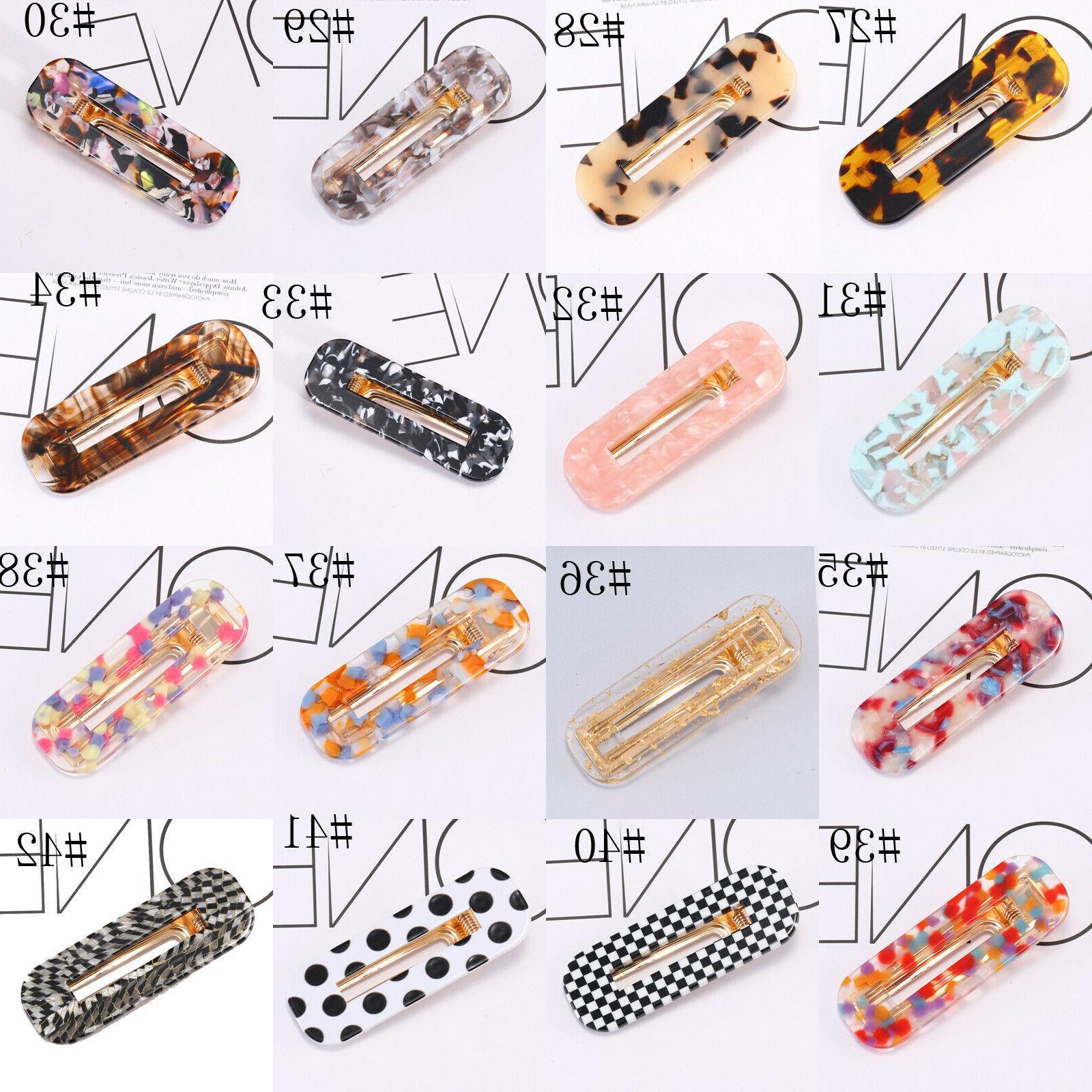 Fashion Hair Clips Snap Barrette Pins Accessories