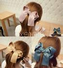 Fashion Womens Girl Satin Ribbon Bow Hair Clips Barrette Pon