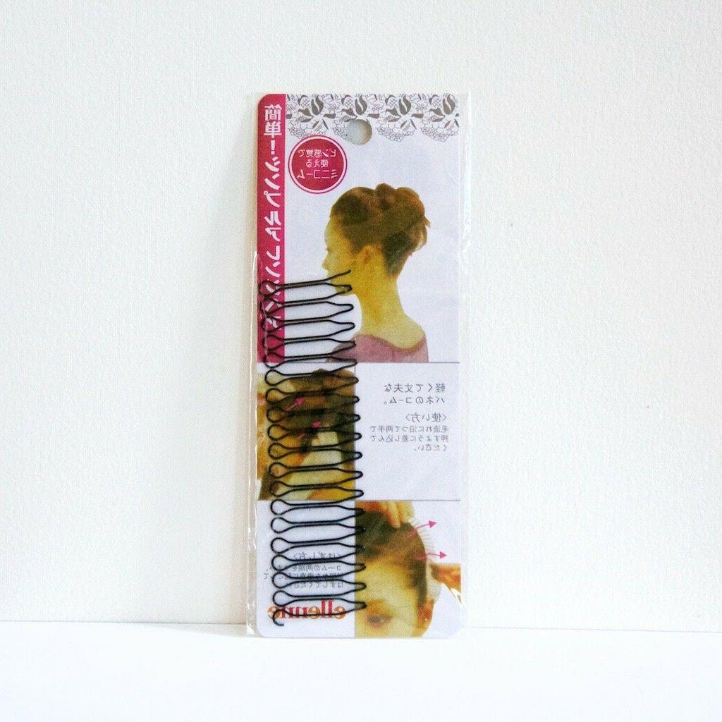 Flexible wire comb hair clip in black, 4 inch
