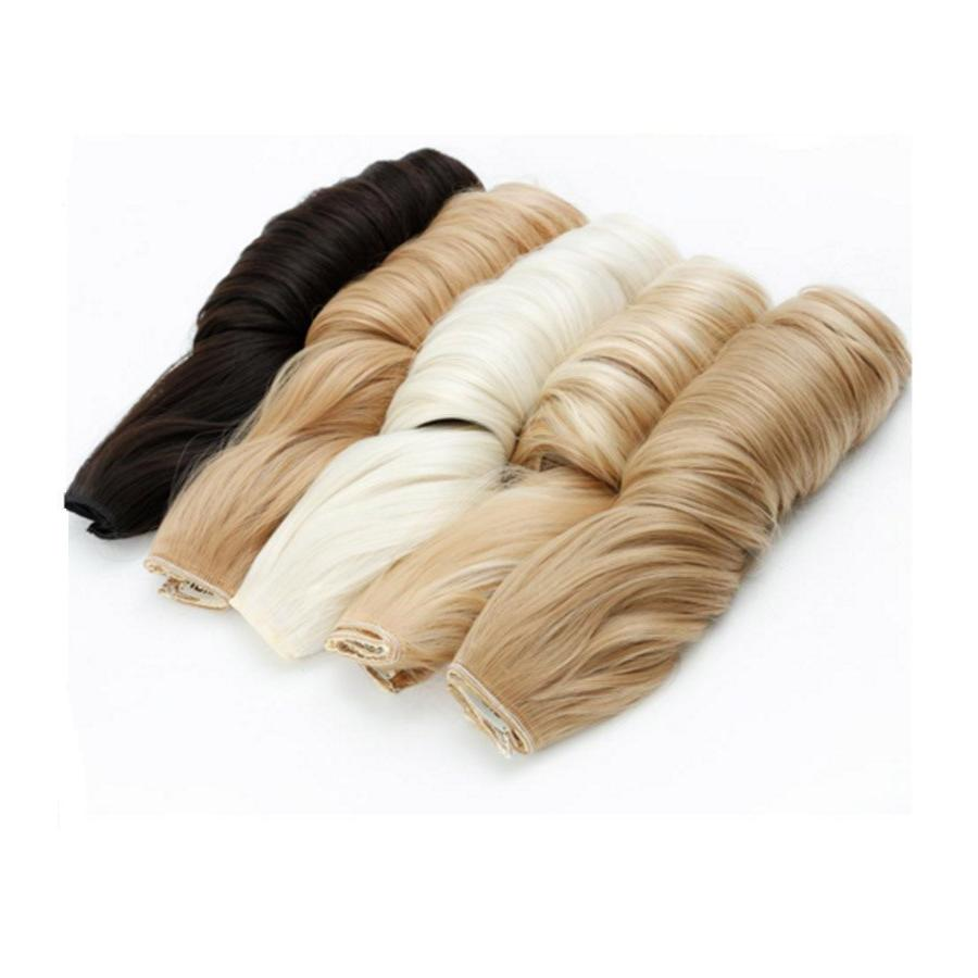 MUMUPI Blonde Synthetic <font><b>Natural</b></font> Hairpiece <font><b>Hair</b></font> Pieces