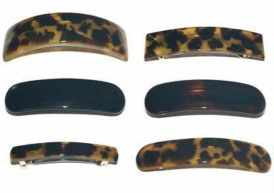 french barrette hair clip animal spot tortoise