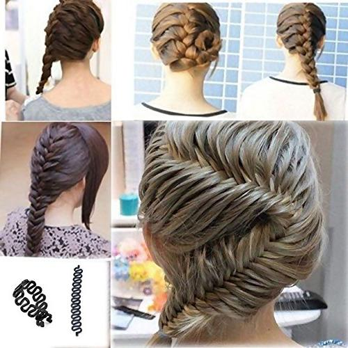 EYX Hair Braiding Roller With Twist Styling Bun Maker