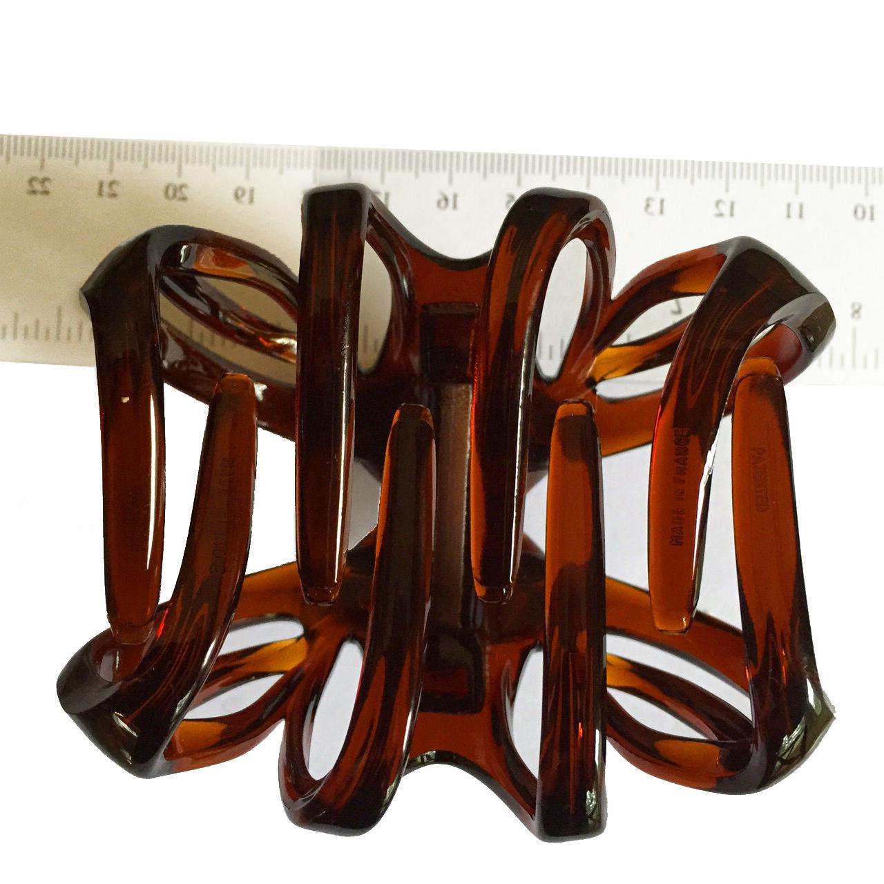 French Claw Celluloid Tortoise Shell Hair 3 Inch