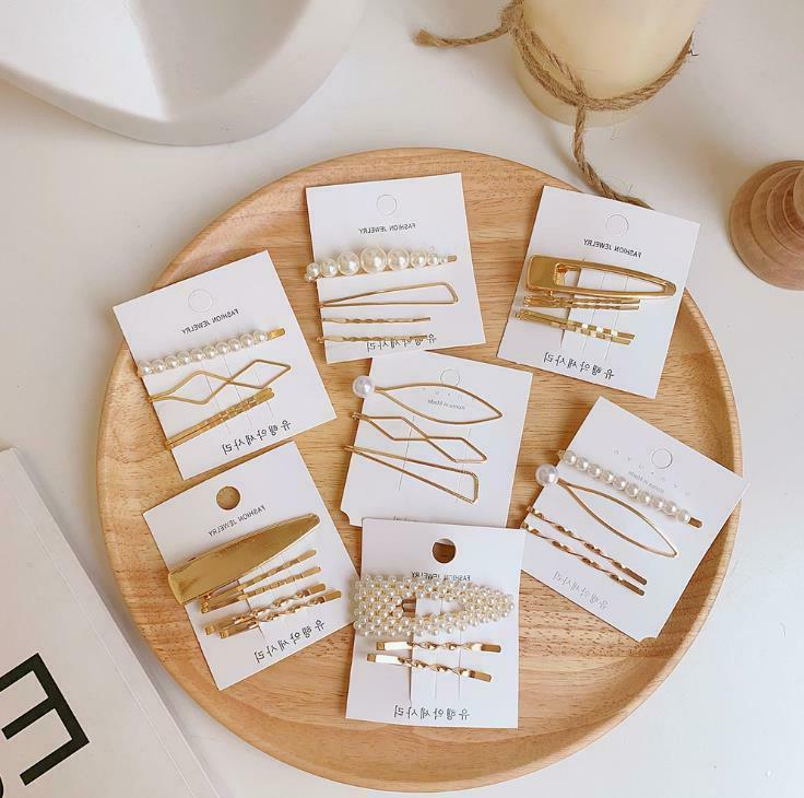 Fashion Gold Pearl Hair Clip Pin Headdress