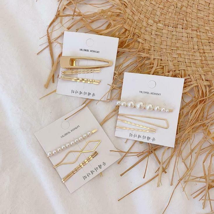 Fashion Gold Clip Set Hairband Bobby Pin Barrette Hairpin