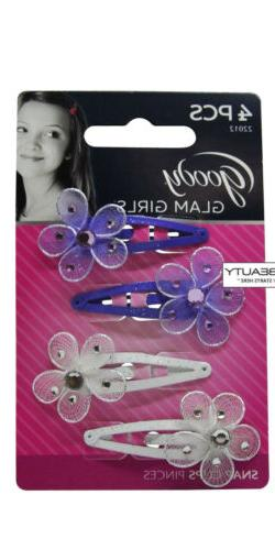 GOODY - Jeweled Flower Contour Clip Perfect For Girls High Q