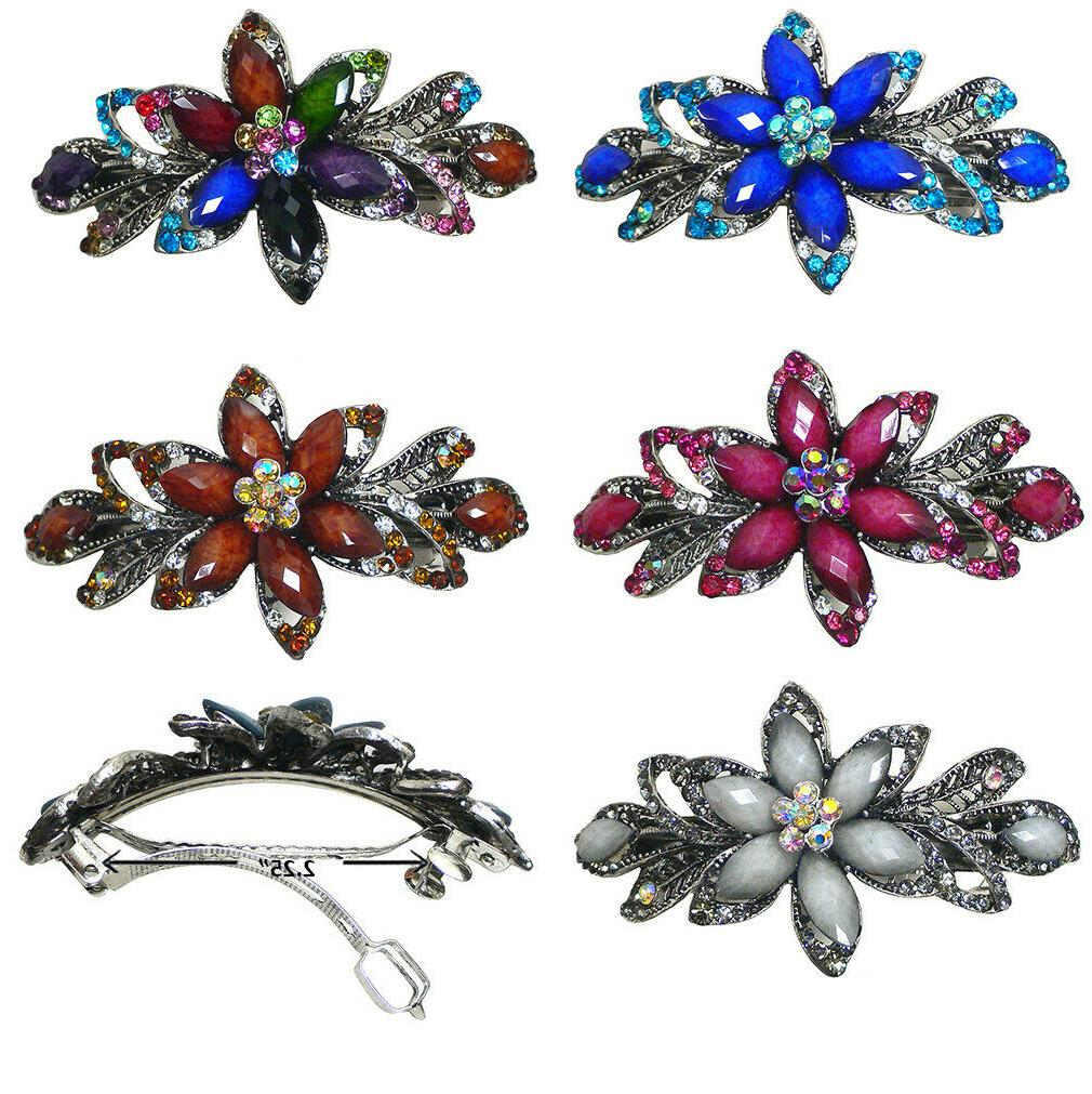 gorgeous barrette hair clip with beads