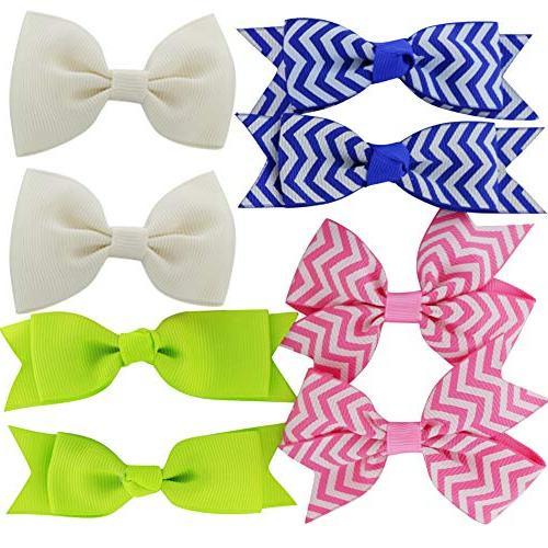 Grosgrain Ribbon Boutique Clips Girls Kids Toddlers Set