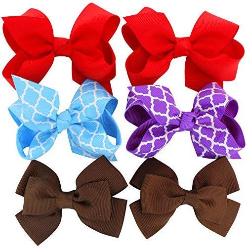 Grosgrain Ribbon Boutique Flowers Clips Girls Teens Set Of 40
