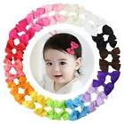 15 Pairs Tiny Baby Girls Grosgrain Ribbon Hair Bows Clips fo