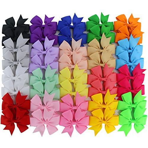 grosgrain ribbon pinwheel hair bows