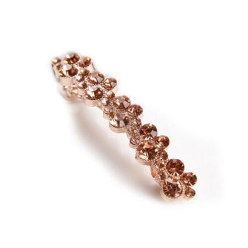 HAIR BARRETTE clips barrettes slide slides VINTAGE crystal
