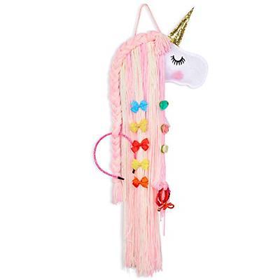 hair bow holder organizer unicorn storage clips