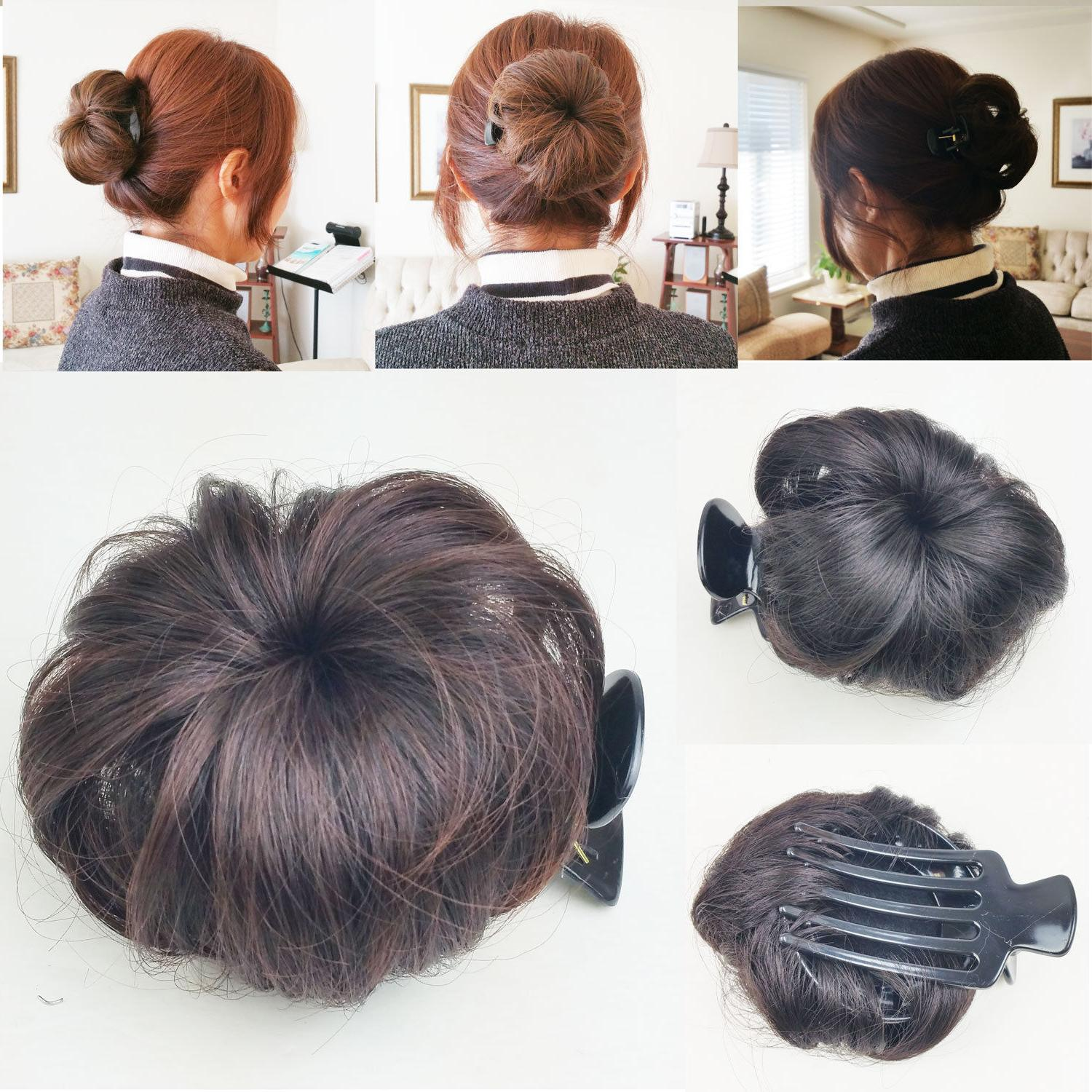 Hair Bun Clip Pin in Synthetic Extension Women Girl FashionS