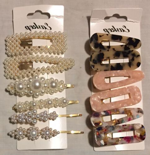 hair clip barrettes pearl hair pins bridal