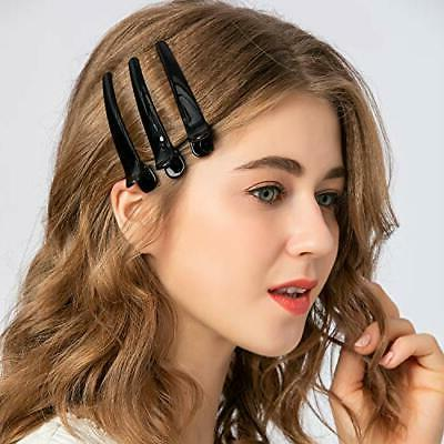 Hair Clips Styling with Duck Teeth and Black